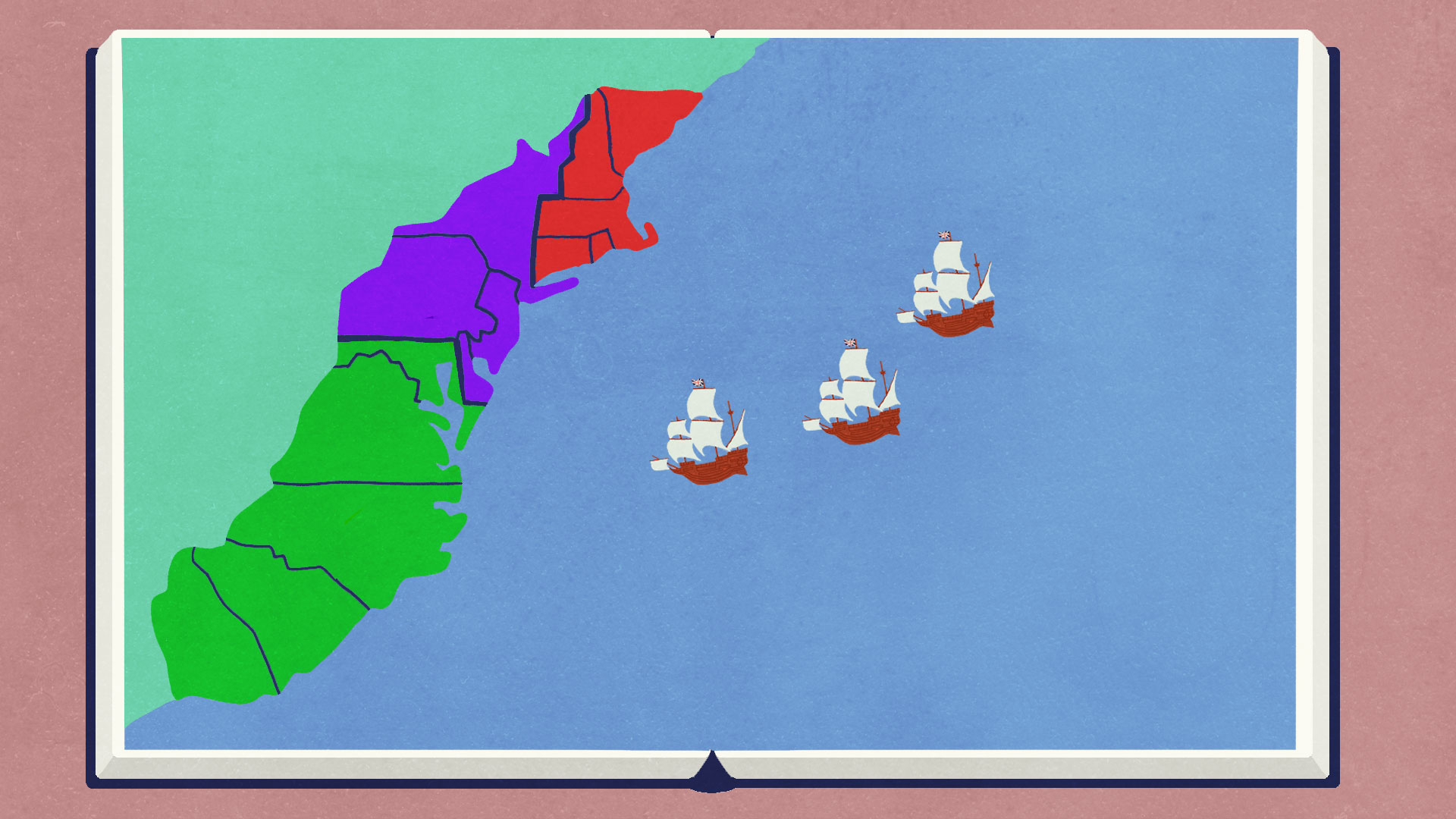 Map Of The 4 New England Colonies.Colonial America 13 Colonies Colonial Life Flocabulary